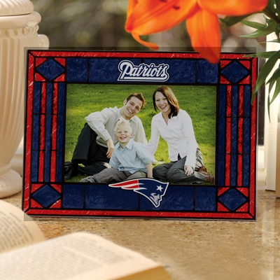 Patriots Art Glass Picture Frame