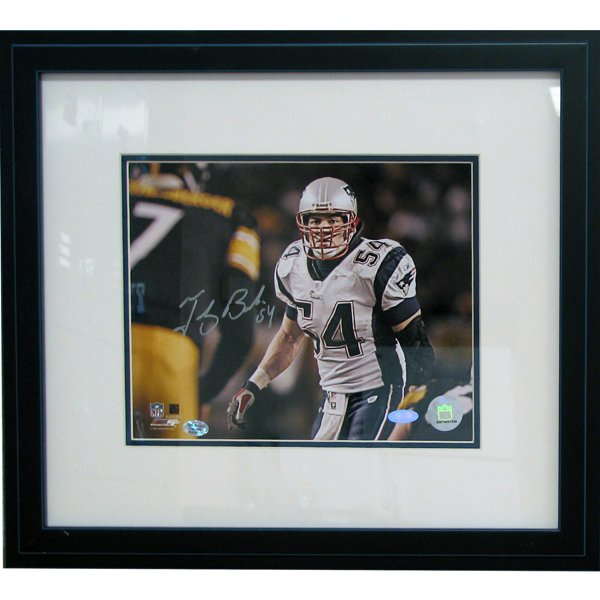Bruschi Autographed Framed 8x10 Photo