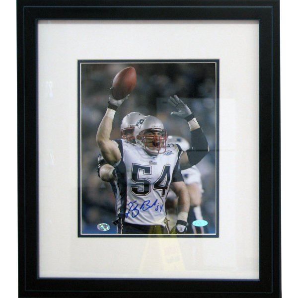 Bruschi Autographed SB39 8x10 Framed Photo