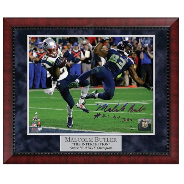 Autographed Butler Super Bowl XLIX Framed Photo