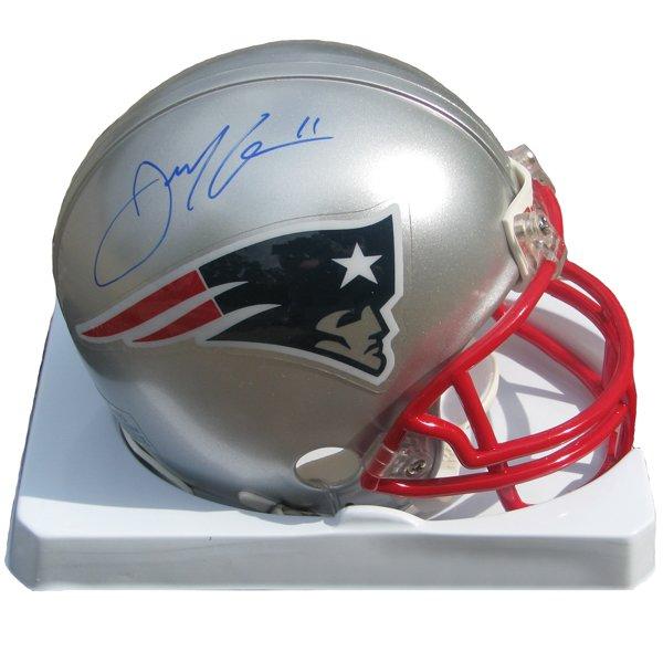 Julian Edelman Signed Mini Helmet