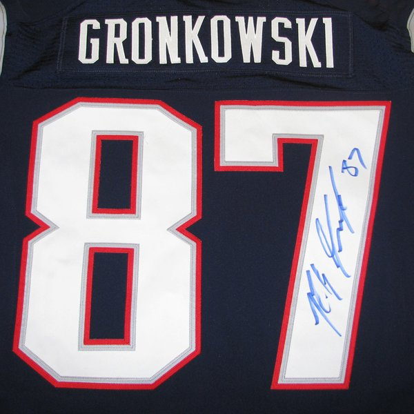 Rob Gronkowski Autographed Nike Elite Jersey-Navy