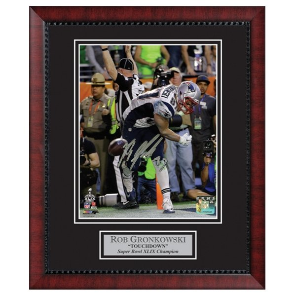 Autographed Gronkowski Super Bowl XLIX Framed Photo