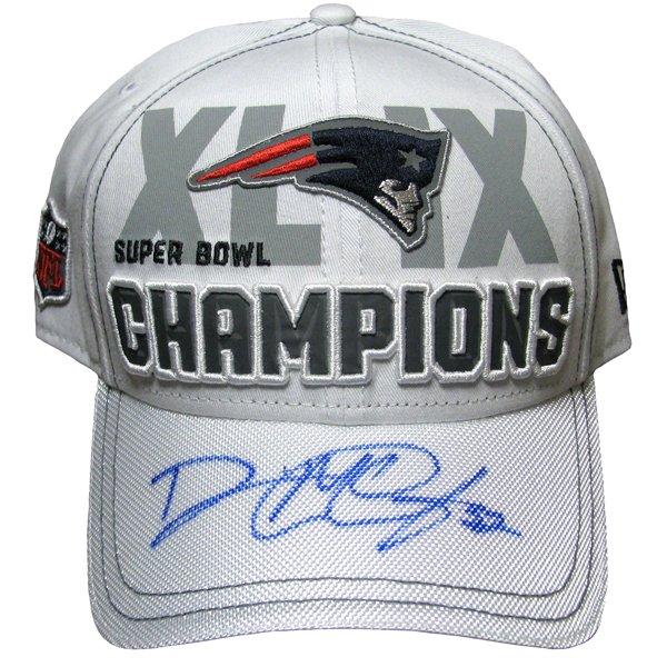Autographed McCourty Super Bowl XLIX Champions Cap