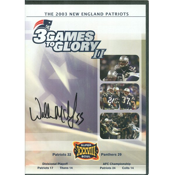 Autographed Willie McGinest 3 Games to Glory II DVD