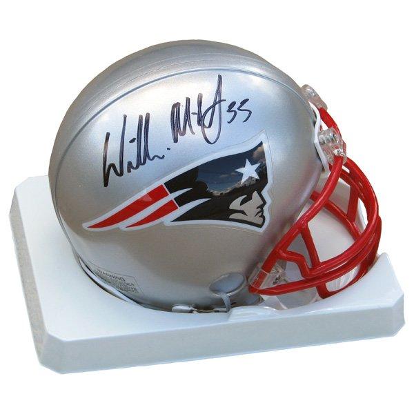 Autographed Willie McGinest Mini Helmet