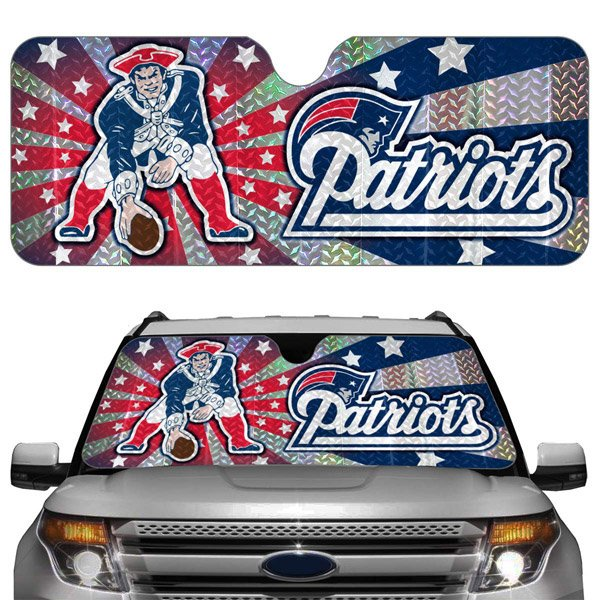 Patriots Dual Logo Auto Sun Shade