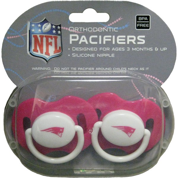 Patriots 2pk Baby Pacifier-Pink