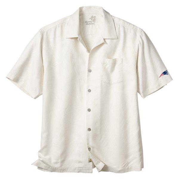 Patriots Tommy Bahama Hamilton Shirt-Beige