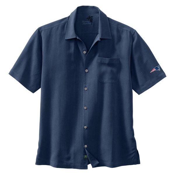 Patriots Tommy Bahama Hamilton Shirt-Navy
