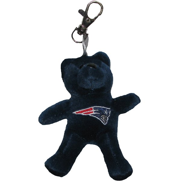Patriots Plush Bear Keychain