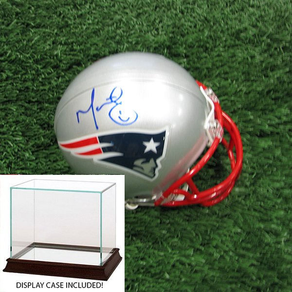 Autographed Martellus Bennett FE Mini Helmet w/Case
