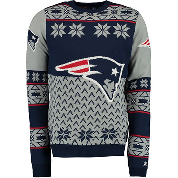 Patriots Big Logo Ugly Sweater