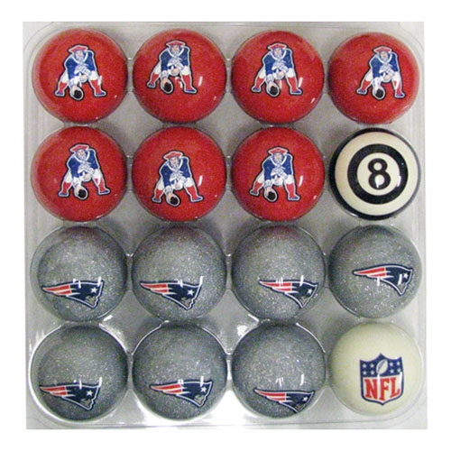 Patriots Logo/Throwback Billiard Ball Set