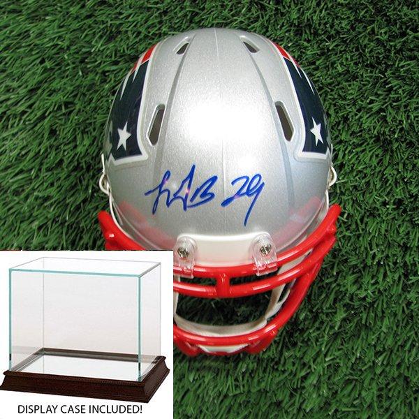 Autographed LeGarrette Blount Mini Helmet w/Case