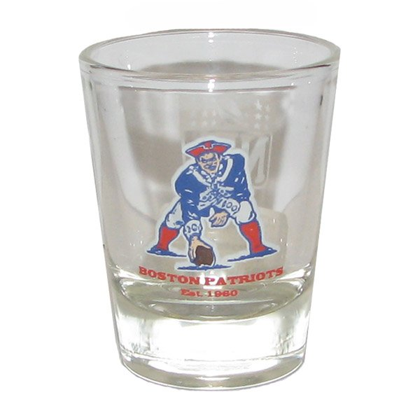 Boston Patriots Vintage 2oz Shot Glass