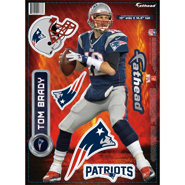 Tom Brady 2013 Fathead Teammate