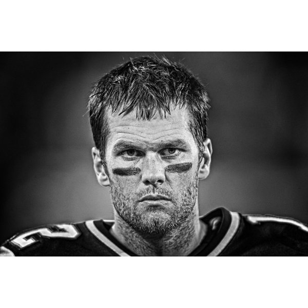 Tom Brady Framed Game Face Photo