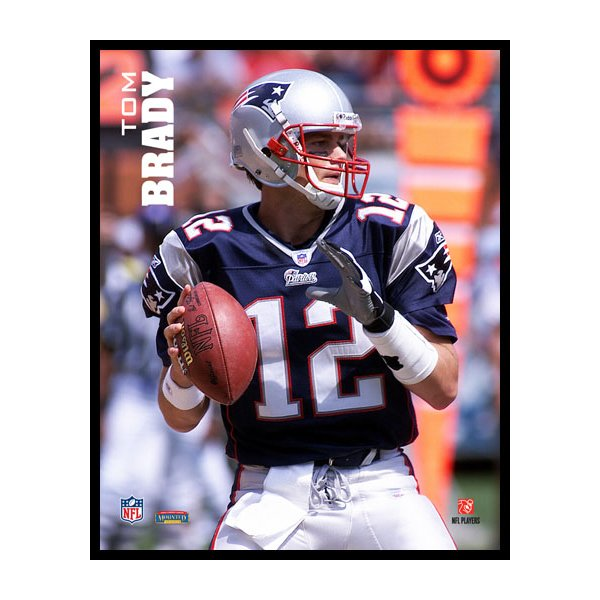 Tom Brady 8x10 Action Plaque