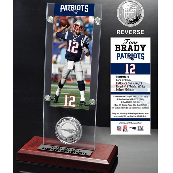 Tom Brady Desktop Coin w/Stand