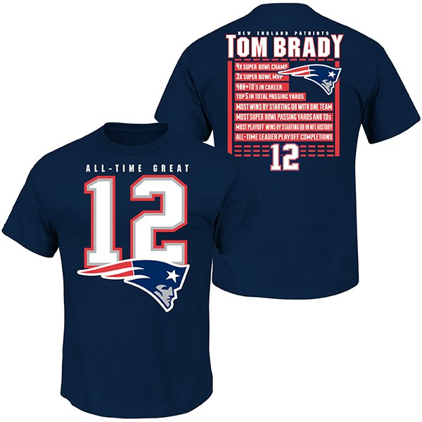 Majestic Brady All Time Great Tee-Navy