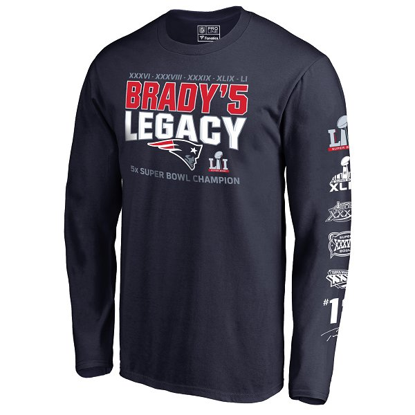 Brady Legacy Long Sleeve Tee-Navy