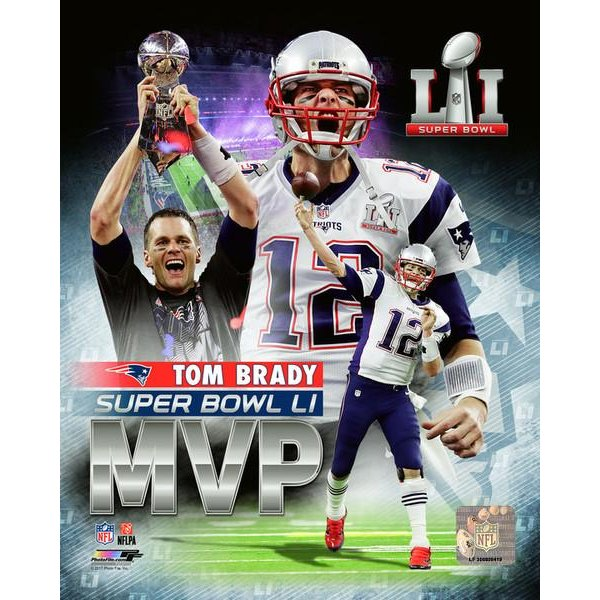 Super Bowl LI Brady MVP 8x10 Photo
