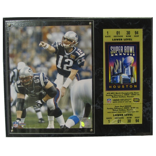 Tom Brady Super Bowl 38 Photo Plaque