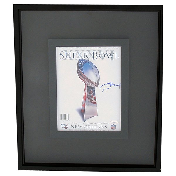 Autographed Framed Tom Brady SB36 Program