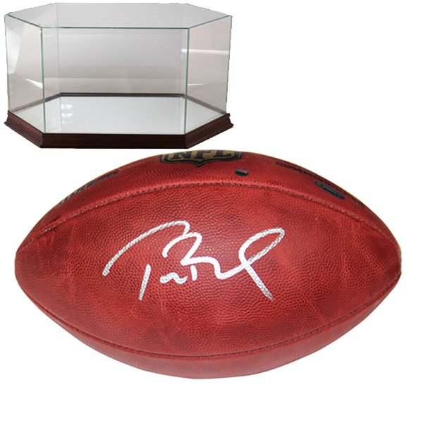 Signed Tom Brady Game Ball w/Case