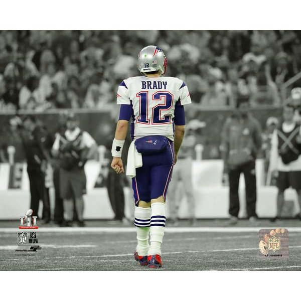 Super Bowl LI Brady Spotlight 8x10 Photo
