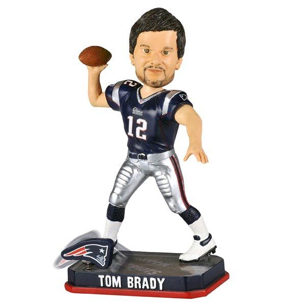Tom Brady Springy Logo Bobblehead