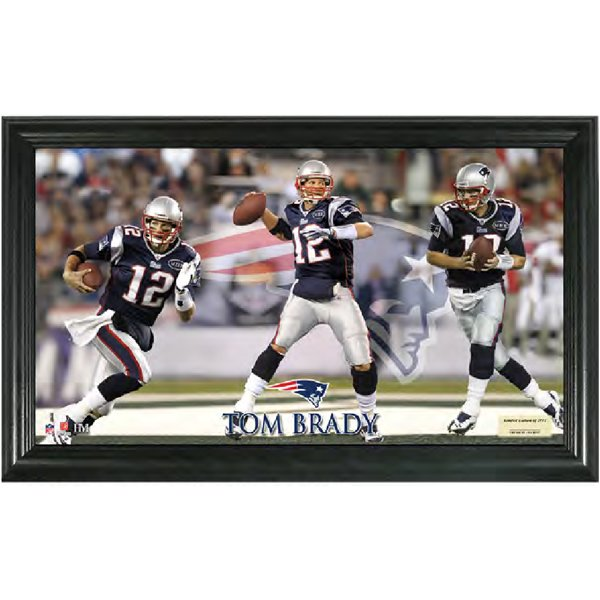 Tom Brady Triple Threat Pano Frame