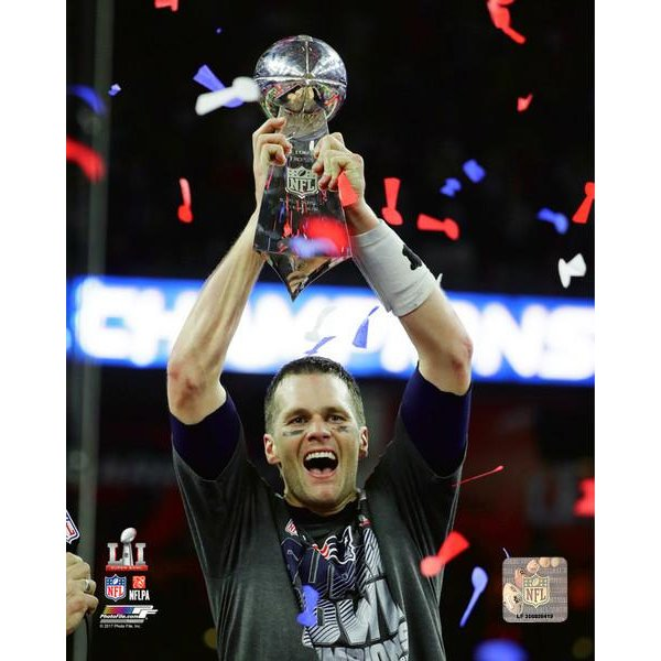 Super Bowl LI Brady/Lombardi 8x10 Photo