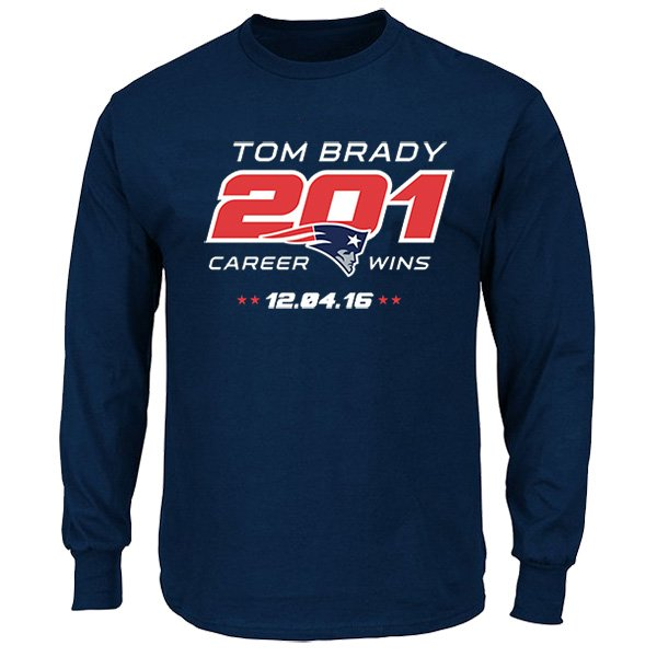 Tom Brady 201 All-Time Wins L/S Tee