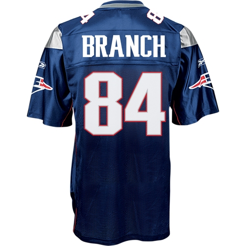 Deion Branch #84 Replica Jersey-Navy