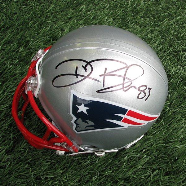 Autographed Deion Branch Mini Helmet