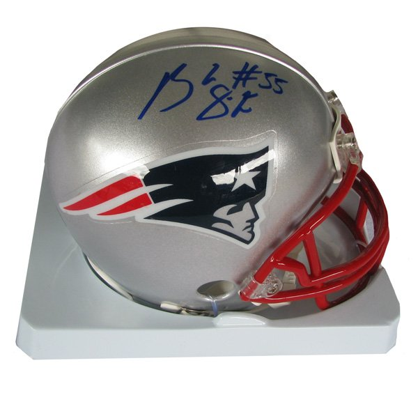 Brandon Spikes Signed Mini Helmet