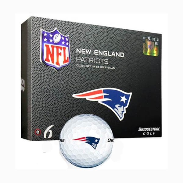Patriots Bridgestone E6 Golf Balls-12ct