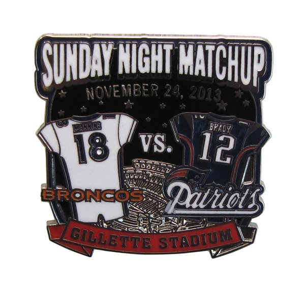 Patriots/Broncos Gameday Pin 11-24-13