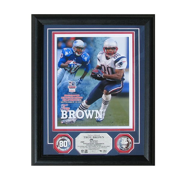 Troy Brown Hall Framed Induction Photomint