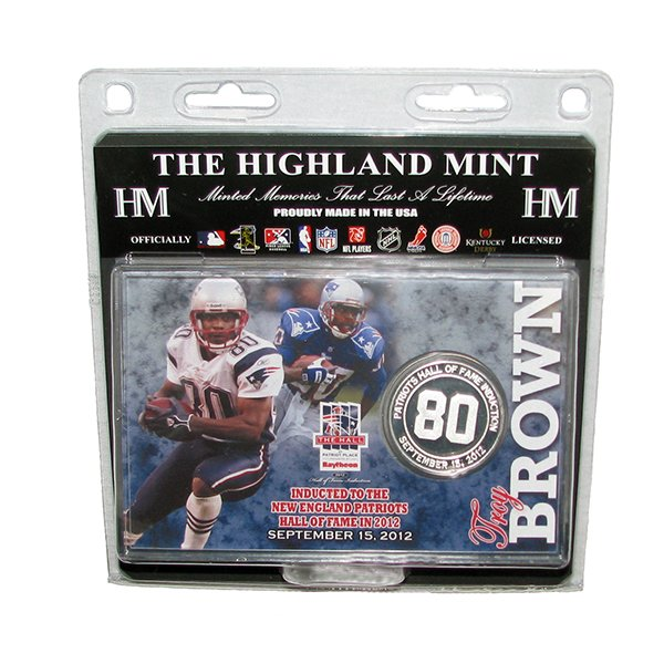 Troy Brown Hall Silver Coin Card