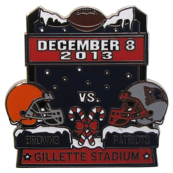 2013 Patriots vs. Browns Game Day Pin