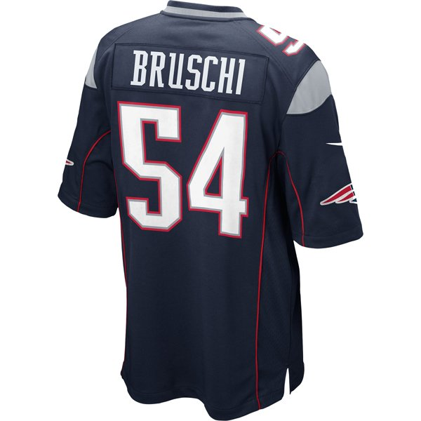 Nike Tedy Bruschi #54 Game Jersey-Navy
