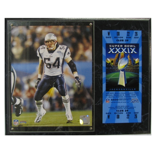 Tedy Bruschi Super Bowl 39 Photo Plaque