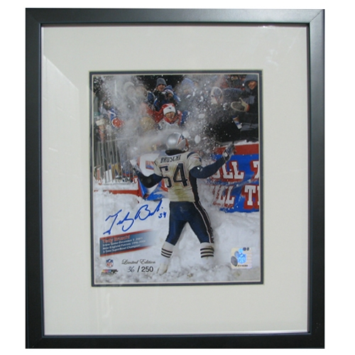 Bruschi Autographed Snow Game Framed Photo