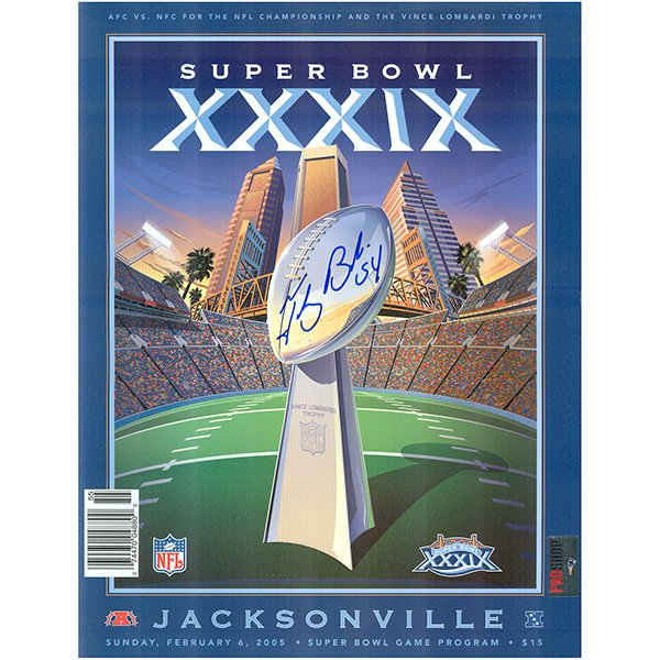 Autographed Tedy Bruschi Super Bowl 39 Program