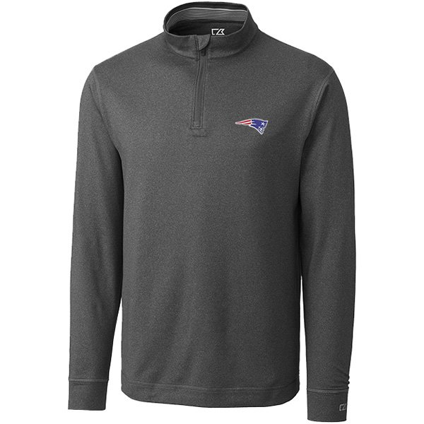 CB Topspin 1/2 Zip Long Sleeve Top-Charcoal