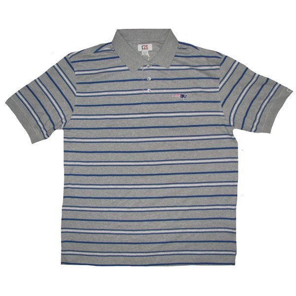 CB Stripe Polo-Gray/Blue