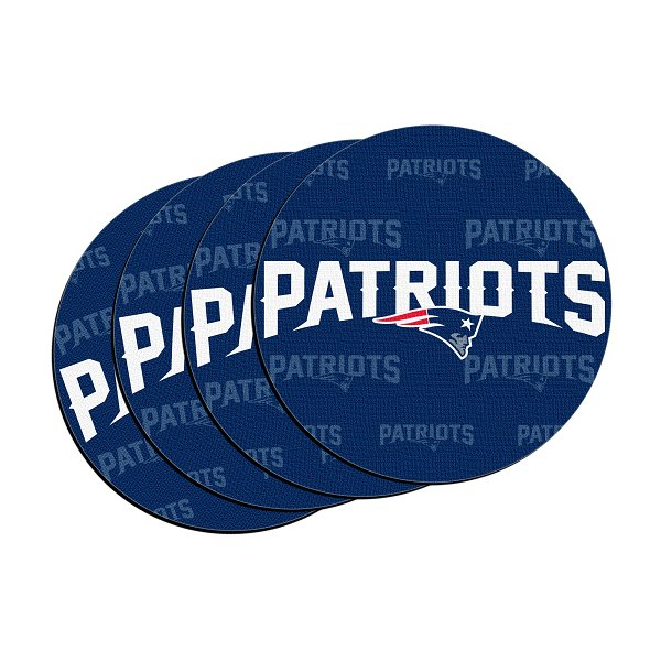 Patriots Neoprene Car Coaster-4pk